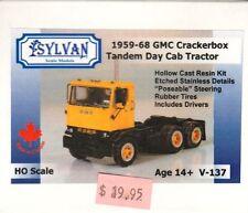 "HO Scale Sylvan Scale Models - 1959-68 GMC ""Crackerbox"" Tandem Axle Day Cab"