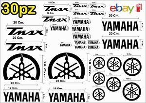 MAXI KIT 30 PEZZI SERIE DI ADESIVI YAMAHA TMAX  T- MAX 500 - 530 COLORE NERO