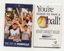 Toledo Mud Hens Detroit Tigers Minor League Baseball 2006 Pocket Schedule