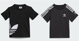 Adidas Boys T Shirt Cotton Infant Baby Junior Kids Crew Sport Top 0-4 Years