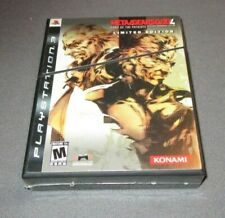 Metal Gear Solid 4: Guns of the Patriots LIMITED - Playstation 3 PS3 system NEW