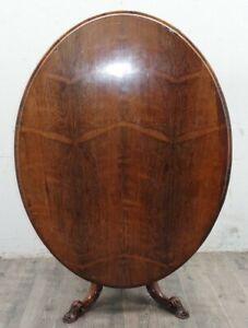 importante grande antico tavolo a vela Carlo X 1830 in palissandro massello