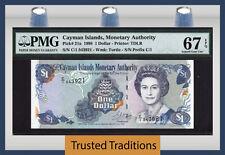 TT PK 21a 1998 CAYMAN ISLANDS 1 DOLLAR QUEEN ELIZABETH PMG 67 EPQ SUPERB GEM UNC