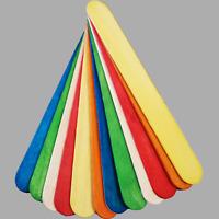 "15cm 6"" Jumbo Natural & Coloured Wooden Sticks Kids School Crafts Party Cake Pop"