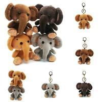 Mini Elephant Plush Stuffed Doll Pendant Keychain Key Chain Holder Bag Decor Joy