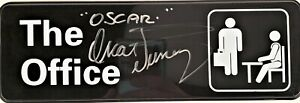 "Oscar Nunez Autograph Signed Office Plate - The Office ""Oscar"" (JSA COA)"