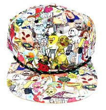 ADULT SWIM RICK AND MORTY CHARACTERS SUBLIMATED ALL OVER PRINT SNAPBACK HAT CAP