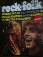 LED ZEPPELIN /THE WHO- ROCK & FOLK N°75 AVRIL1973 COUVERTURE PARTAGÉE BON ÉTAT