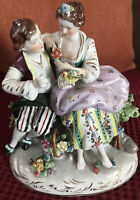 Dresden Porcelain Figurine of Courting Couple stamped 8287 A Excellent Condition