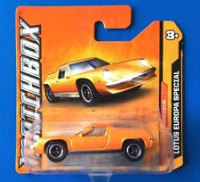 2012 Matchbox 1972 LOTUS EUROPA SPECIAL UK sports coupe - mint on short card!