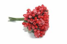 Mini Gypsophila Babies Breath Flowers Wedding Small Bunch Decoration RED
