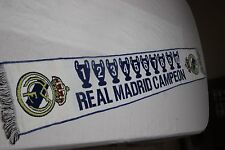 BUFANDA DE FUTBOL DEL REAL MADRID CAMPEON DE 10 CHAMPIONS LEAGUE NUEVA  SCARF