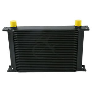 BLACK UNIVERSAL 25 ROW AN-10AN ENGINE TRANSMISSION RACING OIL COOLER BRITISH NEW