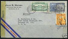 GUATEMALA 1944 WARTIME CENSORED AIRMAIL GUATEMALA TO