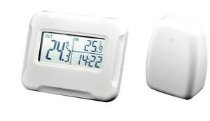 LCD Digital Wireless Thermometer clock with outdoor temperature Sensor