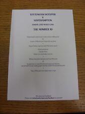 23/03/2014 Tottenham Hotspur v Southampton-Il numero 10, colore A5 SINGLE AUTO
