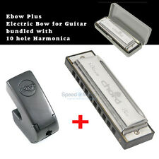 Ebow Plus Hand Held Sustainer effect pedal,Bundled with Blues Harmonica in C