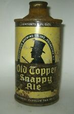 """Old Topper Snappy Ale """"White Letters"""" Cone Top Beer Can Rochester, New York Irtp"""