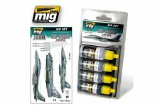 AMMO OF MIG A.MIG-7201 Acrylic Paint Set (4 jars) USN Set 1 From 80's To Present