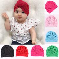 Cute Toddler Newborn Baby Kids Boy Girl Turban Cotton Beanie Hat Warm Winter Cap