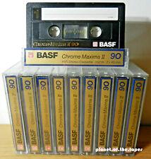 🔛 10x BASF Chrome Maxima II 90 * CrO2 * tapes cassettes Kassetten кассеты * 🔝