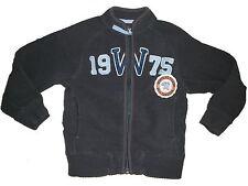 H & M tolle Fleece Jacke Gr. 92 dunkelblau-grau !!