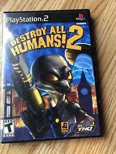 Destroy All Humans 2 (Sony PlayStation 2, 2006) PS2 Cib H2