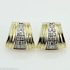 Pendientes de joyería con diamantes en oro amarillo VS1