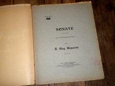 sonate en sol min. pour violoncelle et piano 1904 Guy Ropartz