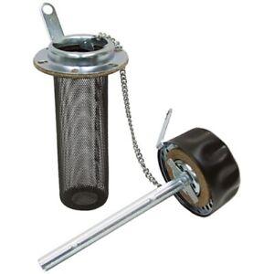 """Reservoir Filler Breather w/ 4"""" Strainer Basket Zinga WSFB104SDL 9-7286-4"""