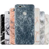 dessana Marmor Muster Silikon Schutz Hülle Case Handy Tasche Cover für Huawei