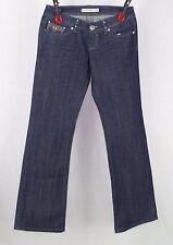 Crystal Blue Dark Blue Rhinestone Jeans Size 7