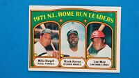 1972 TOPPS BASEBALL #89 NATIONAL LEAGUE HOME RUN LEADERS AARON STARGELL MAY EX
