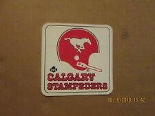 Cfl Calgary Stampeders Vintage 1980's 1 Bar Helmet Team Logo Football Sticker