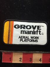 GROVE MANLIFT AERIAL WORK PLATFORMS Brand Advertising / Uniform Patch S75T