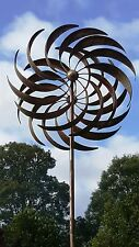 FRENCH DESIGN very tall  2 m high  copper colour WIND SPINNER WINDMILL    NEW