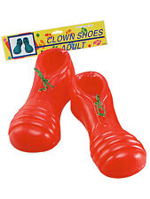 Oversized Clown Shoes Cover Circus Red Fancy Dress Accessory Green Laces New