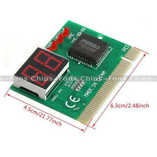 PCI PC Diagnostic 2-Digit Card Motherboard Post Tester Analyzer Checker Laptop