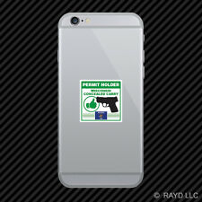 Wisconsin Concealed Carry Permit Holder Cell Phone Sticker Mobile 2a permited v2