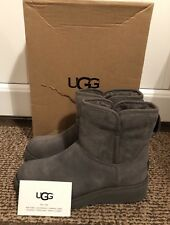 100% Genuine New Ugg KRISTIN Grey Suede Ankle Boots Size 3.5 36
