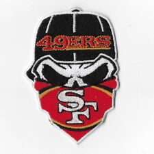 San Francisco 49ers Iron on Patches Embroidered Applique Badge Logo Mask Skull