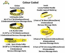 White Blind Dog Helpful Easy Walking Adjustable S M L Collars and Leads by Dexil Nervous Yellow 2 Foot Short Lead Only