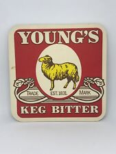 Vintage Young's Keg Bitter Beer Coaster Bar Decoration Man Cave