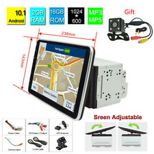 New Listing10.1' 2Din Rotatable Android 9.1 Touch Screen Car Stereo Radio Gps Navigation