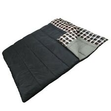 """Double 2 Person Giant Sleeping Bag 80""""x66"""" Warm Weather +32F/above or Use as Two"""