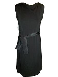 Coast Ladies  Black Cap Sleeve Knee Length  Dress Size 12 ( D4)