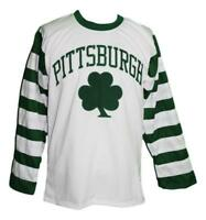 Any Name Number Size Pittsburgh Shamrocks Retro Custom Hockey Jersey White