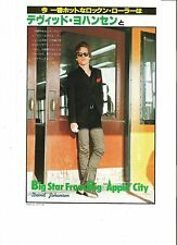 DAVID JOHANSEN (New York Dolls) Japanese magazine PHOTO/Clipping 10x7 inches