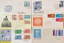 MARVELOUS lot of 6 VINTAGE WW 🌐 FIRST DAY OF ISSUE ENVELOPES JFK older covers!