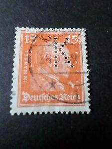 ALLEMAGNE DEUTSCHLAND, 1926, timbre PERFORE' 383 E. KANT, oblitérés, VF PERFIN